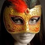 Девушка в маске на аватаре, скачать картинку с девушкой