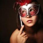 Скачать аватар с девушкой в красной маске