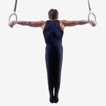 Спортивная картинка с гимнастом на кольцах, скачать аватар про спорт