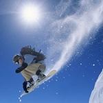 Парень катается на сноуборде, скачать спортивный аватар для парней