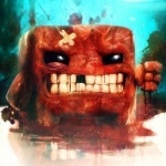 Super Meat Boy без одного зуба и с пластырем на лбу