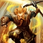 Гном Нори в прыжке с киркой в игре Guardians of Middle-earth