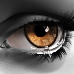 Рисунок карего глаза со слезой