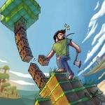 Интересная физика при добыче деревьев в Minecraft