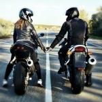 Спиной, Парень и девушка, Мотоцикл, аватар