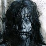 """Пугающая девушка с синей кожей из фильма """"Зловещие мертвецы"""""""
