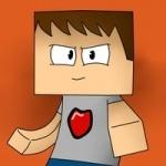 Человечек с квадратной головой и сердечком на футболке