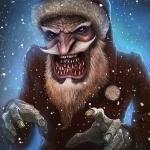 Ужасный Дед Мороз с несколькими рядами острых колыков