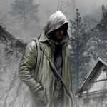 Картинка с артом игры Stalker с парнем в капюшоне в зоне радиоактивного поражения