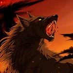 Два волка в смертельной схватке с использованием магии