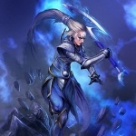 Diana в синем дыму из игры League of Legends