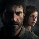 Элли за спиной Джоэла в игре для PS The Last of Us