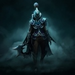 Phantom Assassin в шлеме без отверстий для глаз из Dota 2