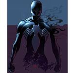 Человек-паук в симбиозе с Веномом сжимает кулаки