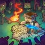 Игрок Minecraft в шляпе попал в окружение зомби