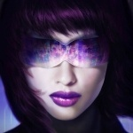Лицо главной героини аниме Ghost in the Shell