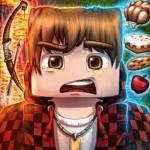 Квадратная голова из Minecraft с испуганным выражением лица