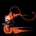 Призрачный гонщик на детском велосипеде