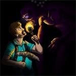 Встреча с эндерменом в темной пещере