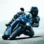 Человек на спортивном мотоцикле на аву