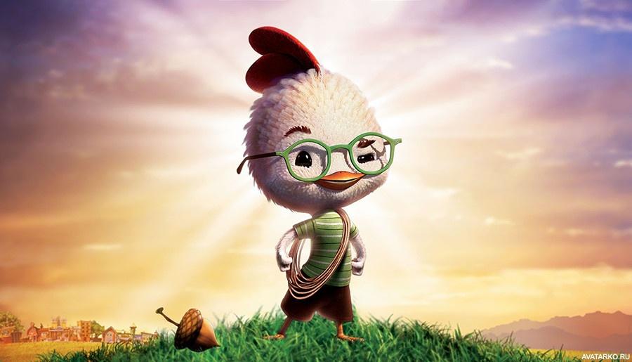 Картинка 900x675   Картинка с цыпленком Цыпой из мультфильма Chicken Little   Мультфильмы, Птицы, фото