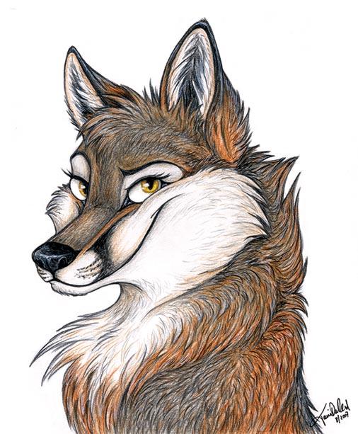 Рисунок веселого волка