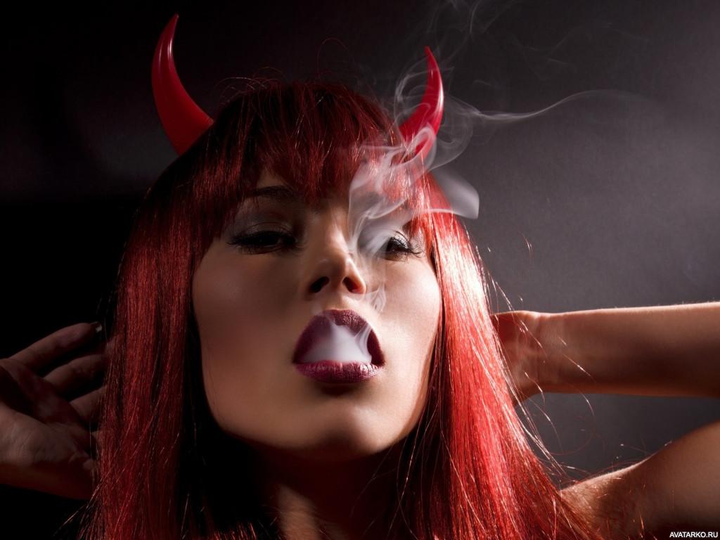 Картинки на аву демон девушка