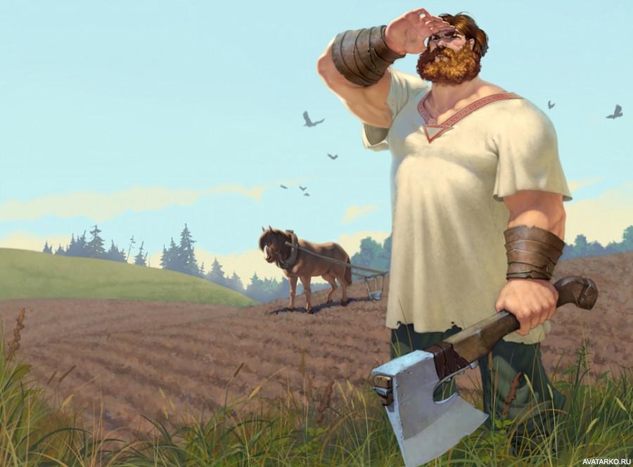 Картинки по запросу рисунок мужик с топором