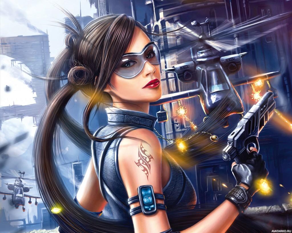 Картинка игровой девушки