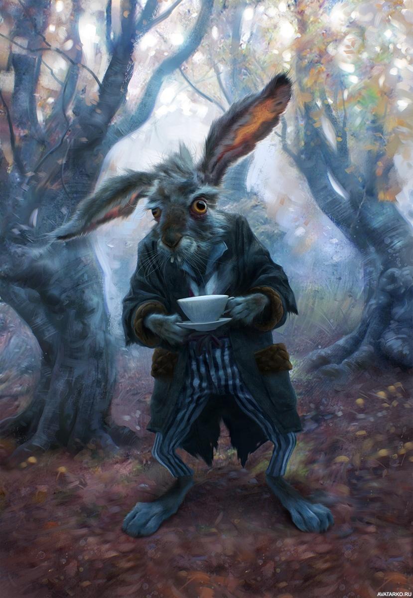 Безумный кролик алиса в стране чудес картинки