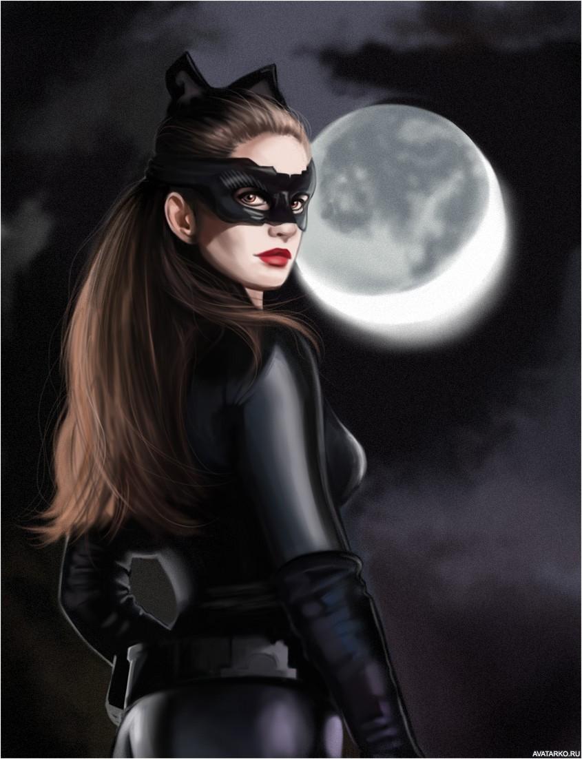 женщина кошка картинки на аватарку