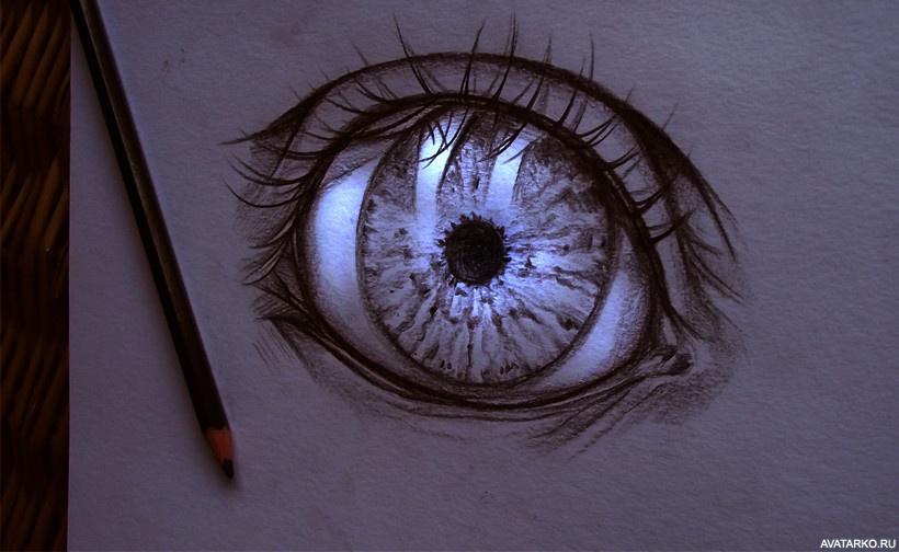 Картинка 604x338 | Глаз нарисованный карандашом в стиле аниме | Глаза, Сделать ужасную аву, фото