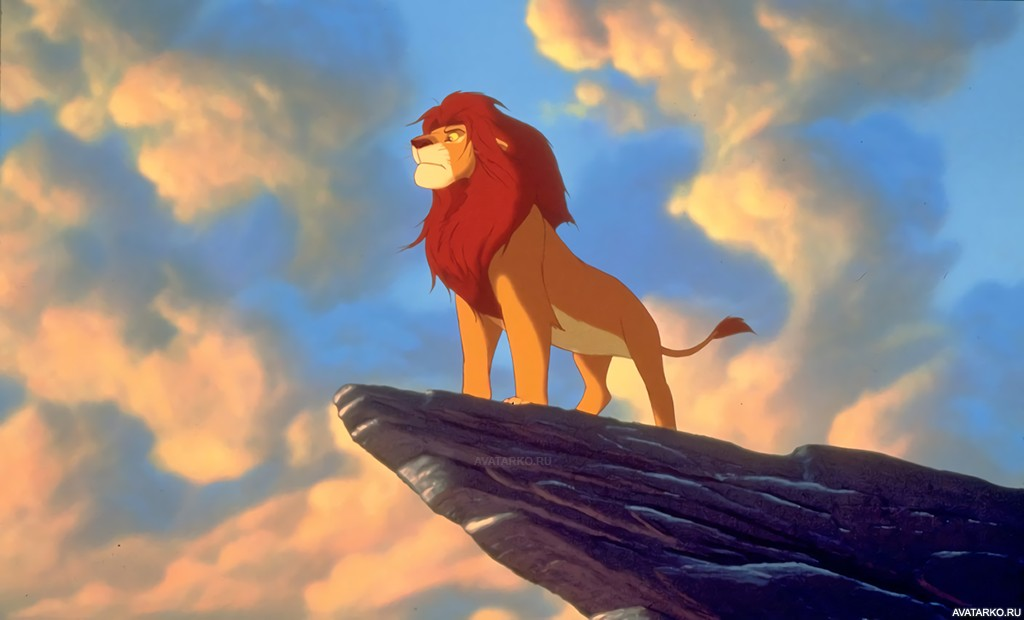 картинка короля льва на скале живым