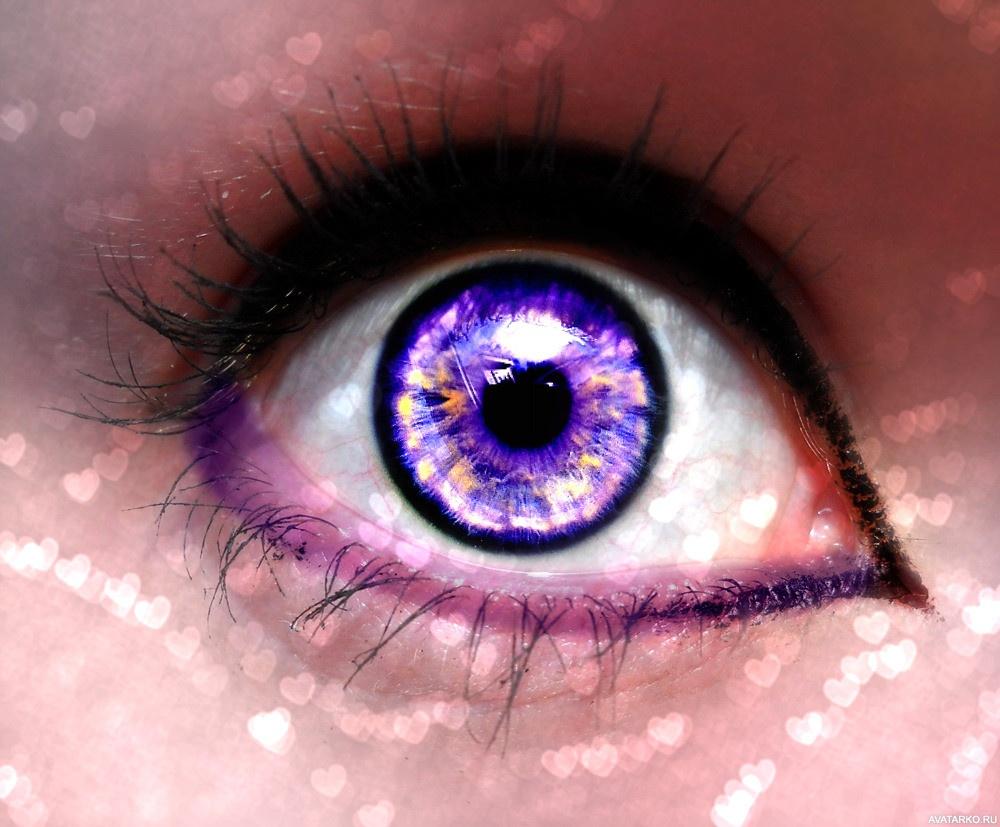 картинка фиолетовая с глазами женщина только