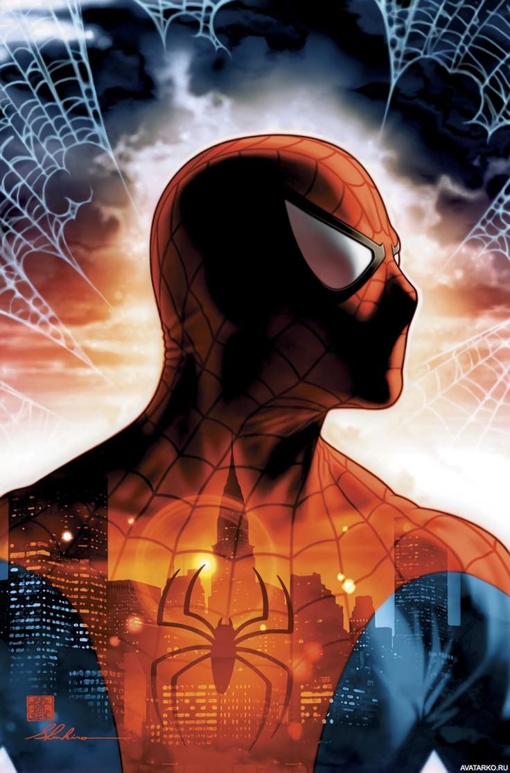 Картинка 396x600 | Картинка Человека-паука(Spider-man), супергероя в маске на аву | Человек-паук, фото