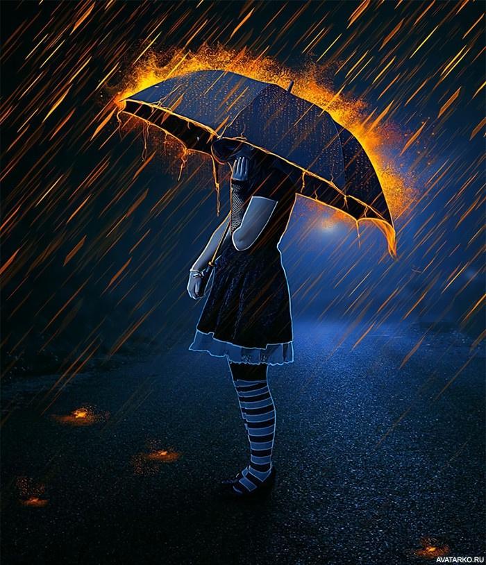 Ангел под зонтом картинки