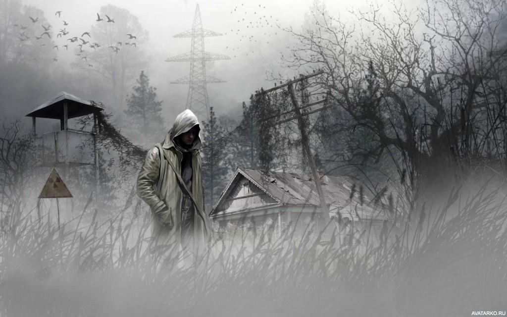 Картинка 1024x640 | Картинка с артом игры Stalker с парнем в капюшоне в зоне радиоактивного поражения | Игры, Мужчина, Капюшон, Сталкер, Сталкер аватар, фото