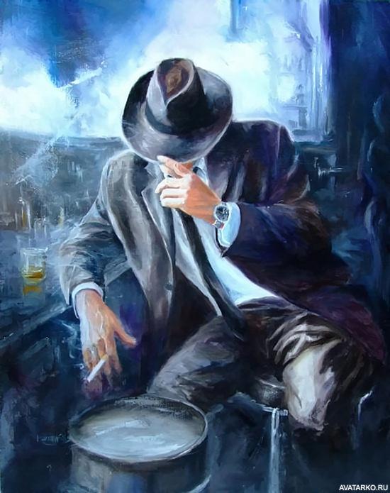 Фото мужчин с сигаретой на аву в 53