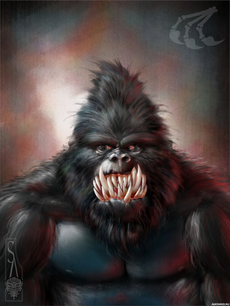 картинки обезьяна страшная