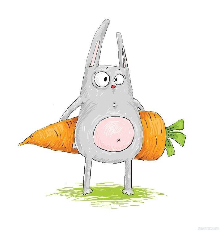 Картинки зайцев мультяшных прикольные
