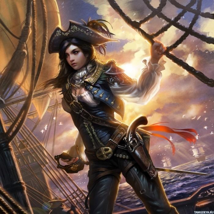 Handsome pirate art