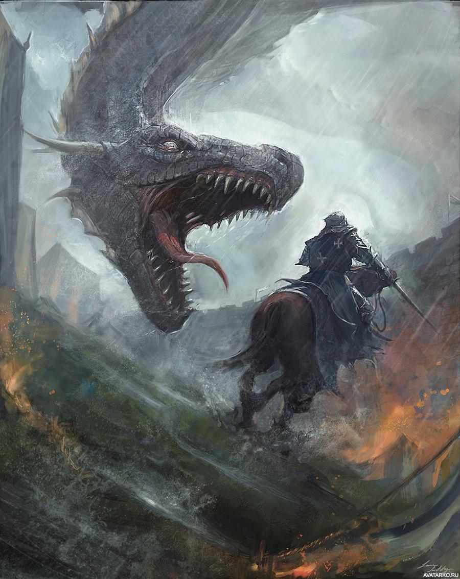 картинки нападающие драконы рыцари если высмеивает