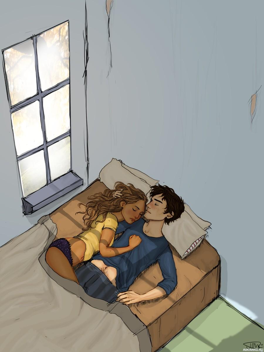 Парень на девушке спит картинки