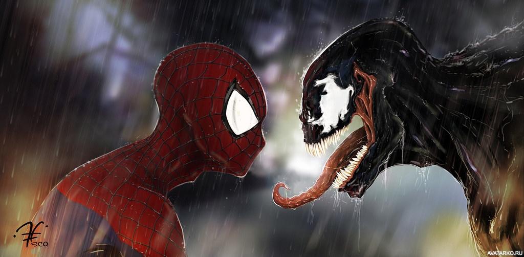 человек паук злой картинки