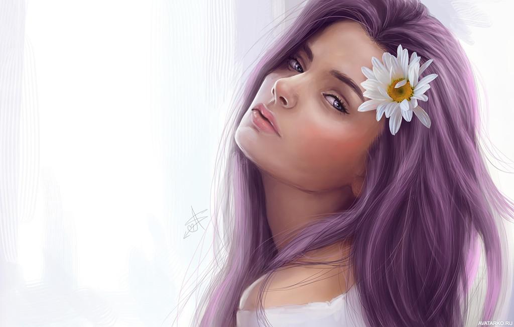 Картинки с нарисованными девочками красивые, людмилу днем рождения