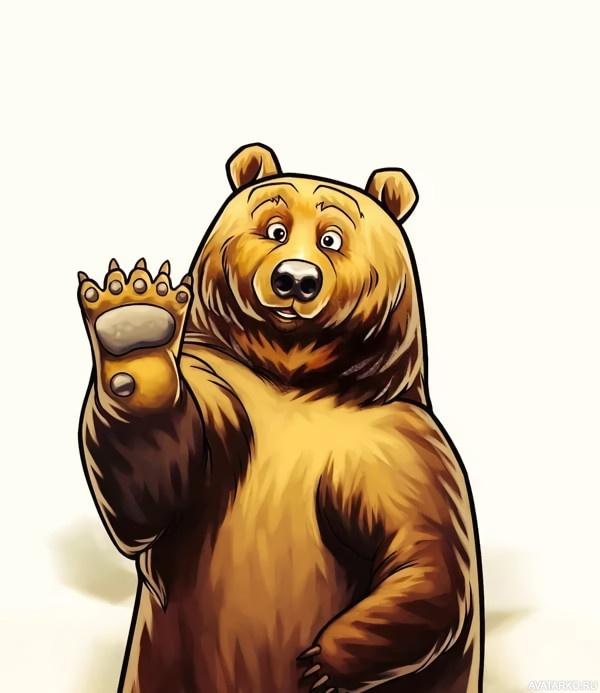 Открытках днем, картинки медведи крутые