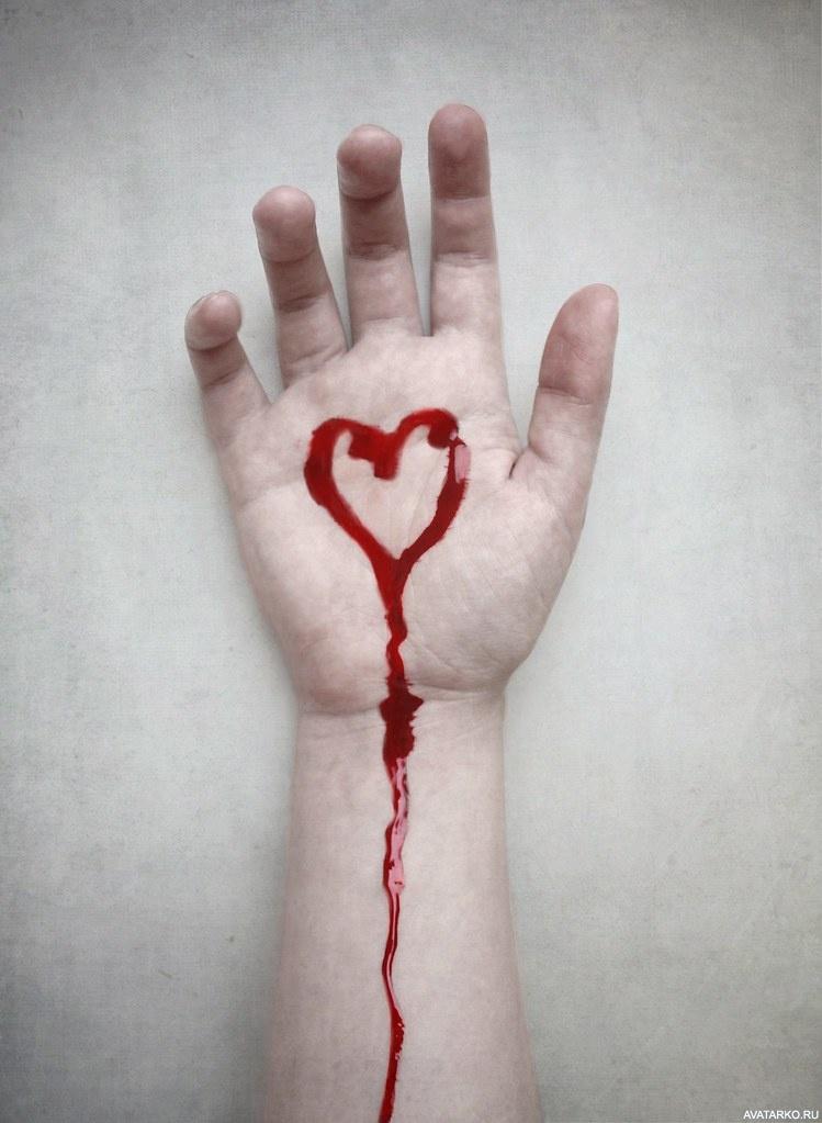 фото на аву с кровью