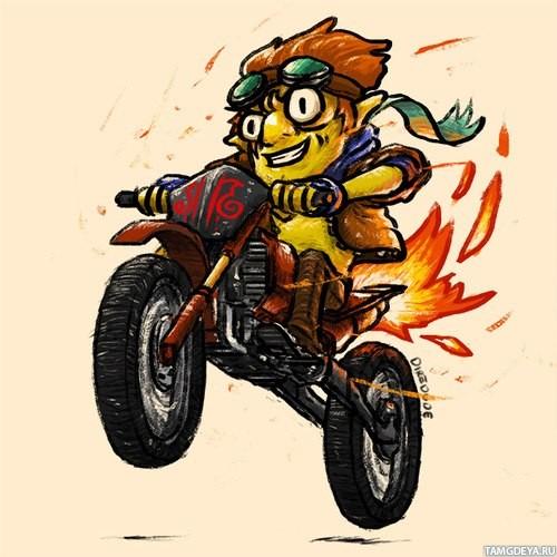 Batraider на мотоцикле, который оставляет пламя за собой