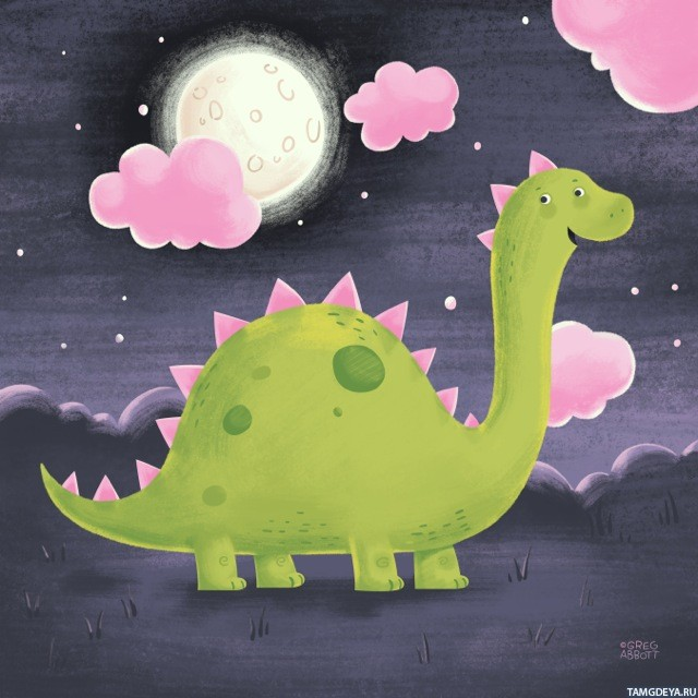 Картинки няшных динозавров