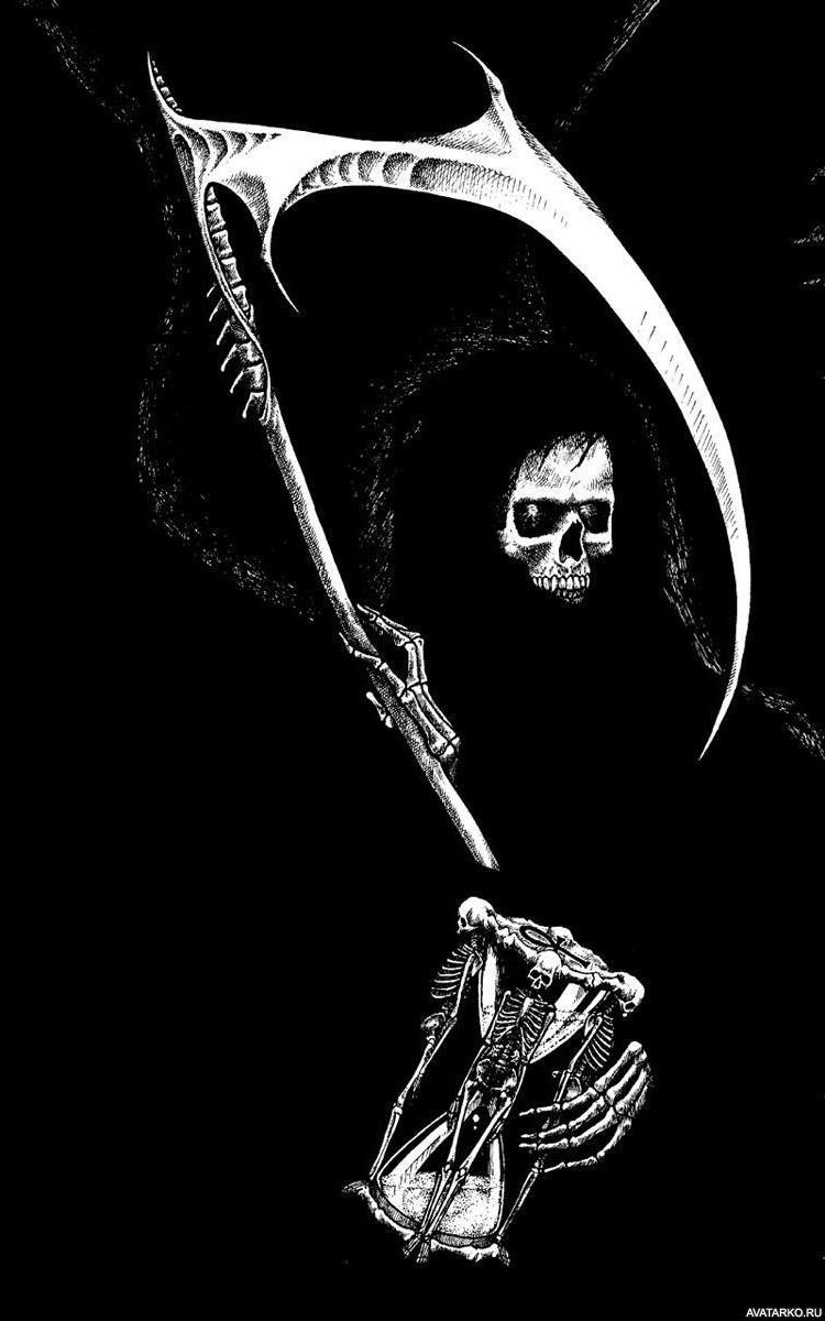 Картинки смерти с косой с надписями